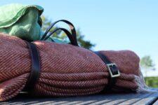 picknickkleed wol roestbruin visgraat