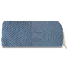 plaid denimblauw katoen grand foulard wafel