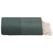 plaid donkergroen katoen grand foulard wafel