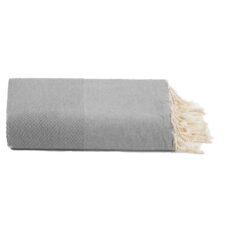 plaid grijs foulard katoen wafel