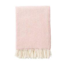 plaid roze merinowol lamswol klippan classic