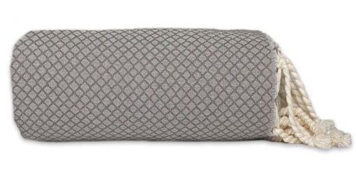 plaid taupe katoen sprei grand foulard ottoman