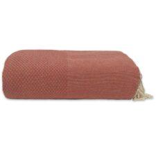 plaid terracotta grand foulard katoen