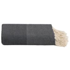 plaid zwart katoen grand foulard