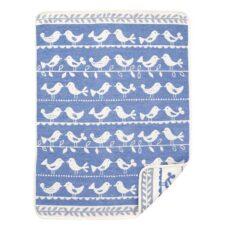 wiegdeken blauw vogels katoen klippan