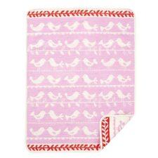 wiegdeken roze klippan katoen vogels