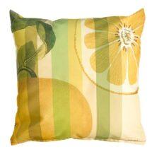 Buitenkussen geel polyester lemon