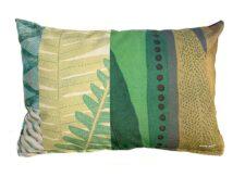 Buitenkussen groen bruin polyester discolor