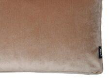Kussen beige velvet fluweel detail