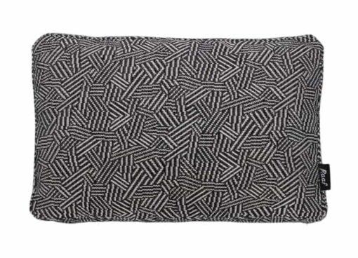 Kussen donkerblauw meubelstof langwerpig Raaf Chris