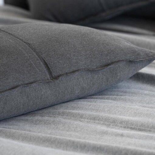 Kussen grafiet grijs jersey katoen moyha cuddle