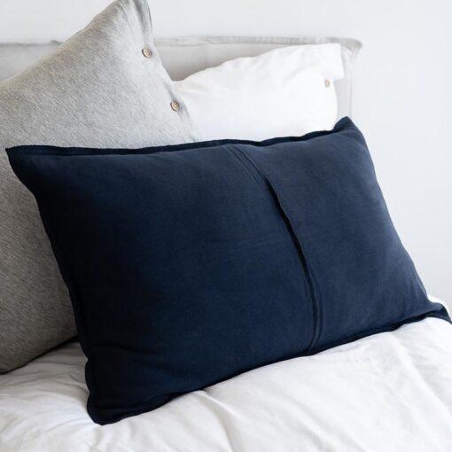 Kussen jerseykatoen donkerblauw moyha comfy
