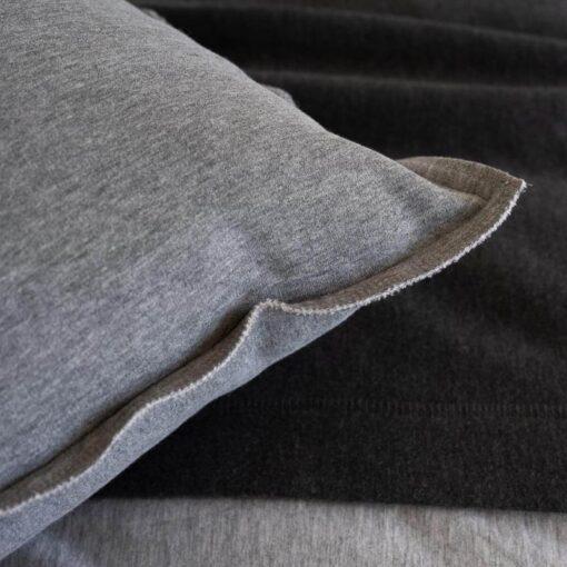 Kussen katoenen jersey grijs moyha comfy