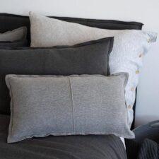 Kussens katoen jersey grijs zand moyha comfy