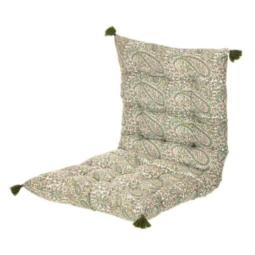 Matraskussen groen paisley katoen