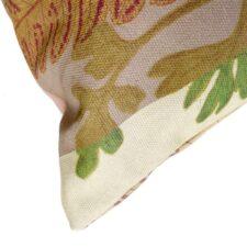 Botanisch kussen katoen beige groen
