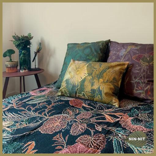 Botanische sierkussens katoen slaapkamer