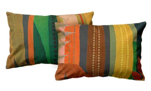 Kussen katoen multicolour kleurrijk tweezijdig