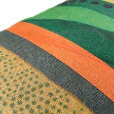 Kussen kleurrijk katoen groen oranje