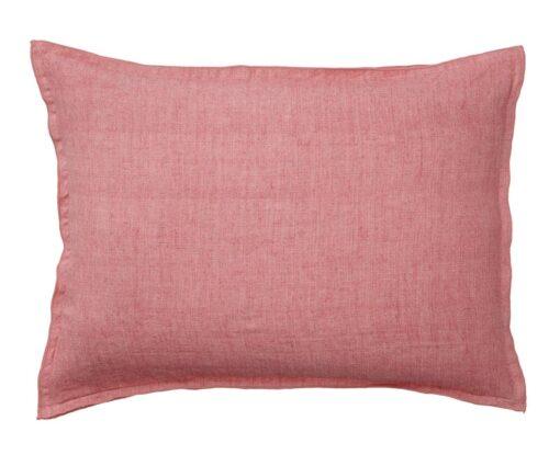 Kussen roze linnen langwerpig