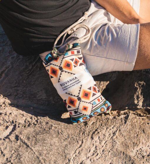 Strandhanddoek egyptische print met opbergtas