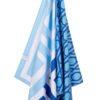 Strandlaken blauw wit microvezel sneldrogend griekenland