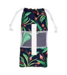 Strandlaken bloemen microvezel reishanddoek met opbergtas