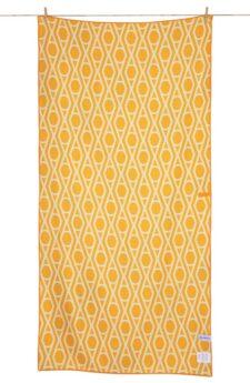 Strandlaken multicolour oranje wit print ibiza microfiber