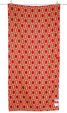 Strandlaken rood geel print china microfiber