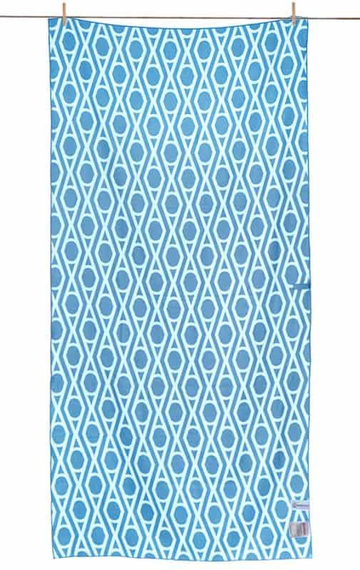 Strandlaken wit blauw print egypte microfiber