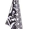 Strandlaken zwart wit microvezel sneldrogend arizona