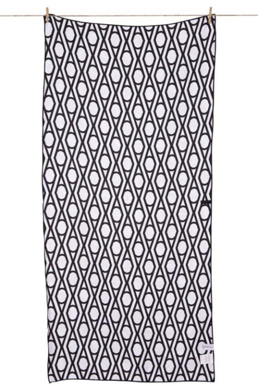 Strandlaken zwart wit print arizona microfiber