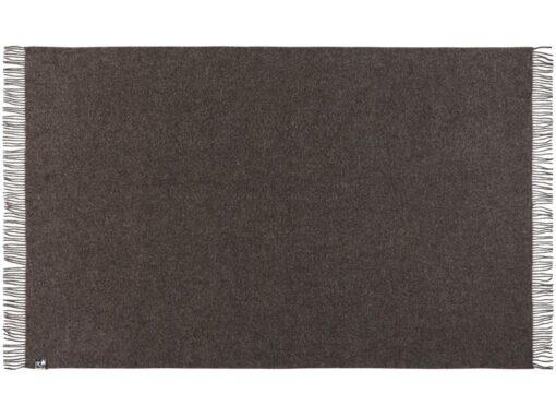 plaid deken donkergrijs alpaca wol silkeborg oxford