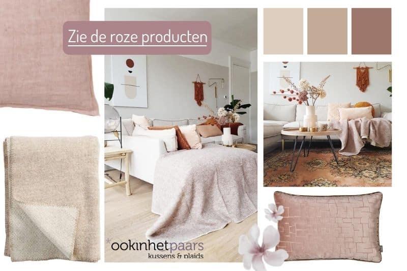 romantische crème kleuren in je woonkamer