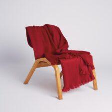 Plaid alpaca wol rood