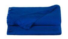 Plaid azuurblauw alpacawol