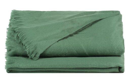 plaid groen alpacawol mintgroen