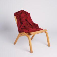 Plaid rood alpaca wol
