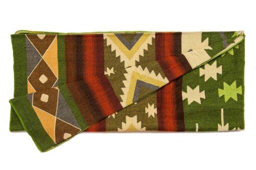 Plaid sprei groen alpacawol quilotoa native print