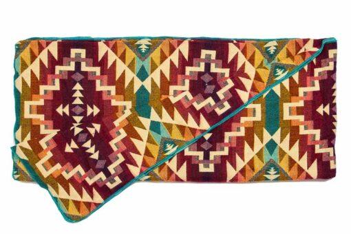 Plaid sprei paars multi alpacawol native print