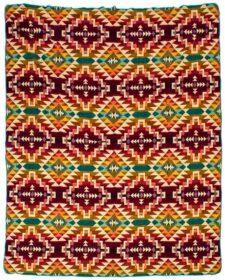 Paarse sprei plaid multicolour native alpacawol chimborazo