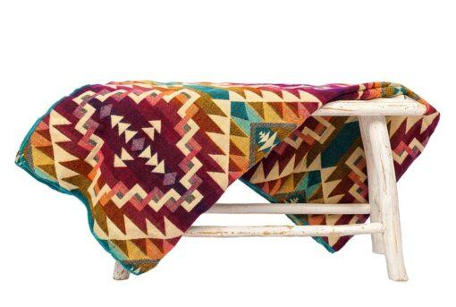 Sprei plaid paars alpacawol native ecuafina