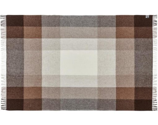 plaid deken bruin alpaca wol silkeborg oxford