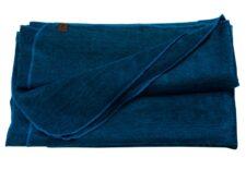 plaid donkerblauw alpacawol