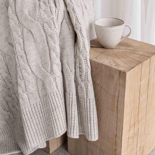 Gebreide plaid beige moyha pretty pattern