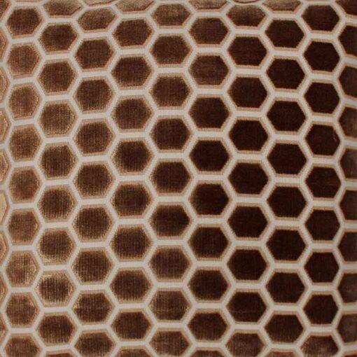 Kussen cognac velours raaf detail