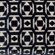 Kussen donkerblauw velours detail raaf saloua