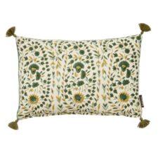 Kussen groen katoen langwerpig Kollam Clover