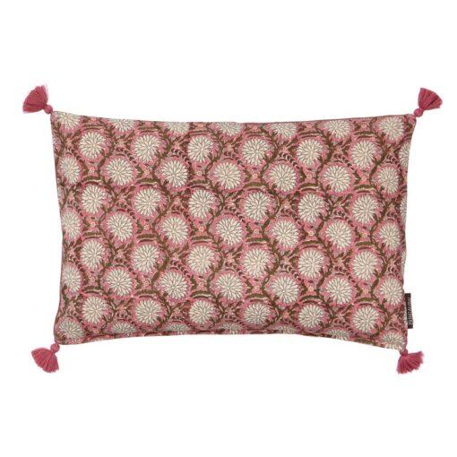 Kussen roze katoen langwerpig Bindi Sandstone