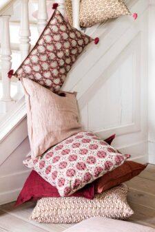 Kussens rood roze Bungalow